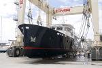Спуск на воду третьей моторной яхты OCEA проекта Commuter 108